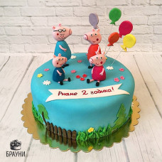 №281 Торт Свинка Пеппа