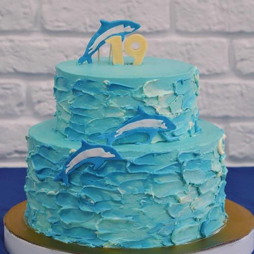 №160 Торт Дельфины