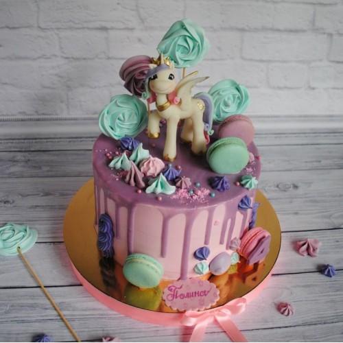 №454 Торт для девочке с пони