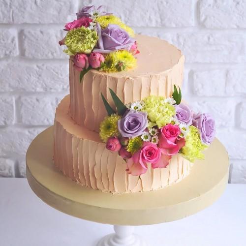 №220 Торт с цветами