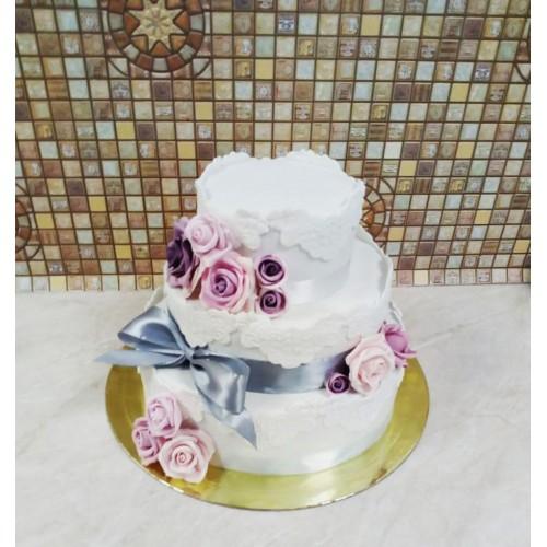 №419 Торт с украшениями на свадьбу