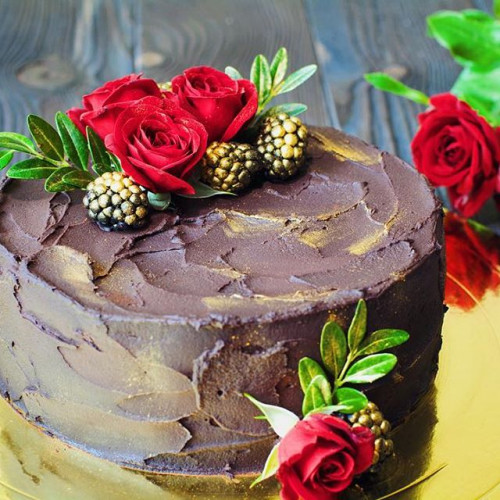 №69 Торт с розами